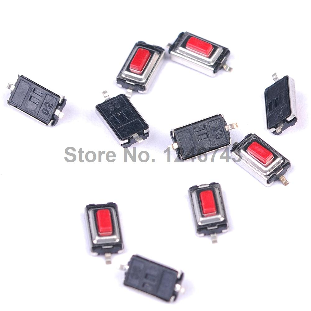 100PCS 3*6*2.5 mm 3*6*2.5H SMD red Button <font><b>switch</b></font> key <font><b>switch</b></font> <font><b>Tact</b></font> <font><b>Switch</b></font> image