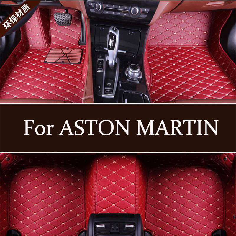 Leather Car Floor Mats Fit For ASTON MARTIN Rapide 2011-2017 factory outlet Good Quarlity mats non slip dustproof floor mats(China)
