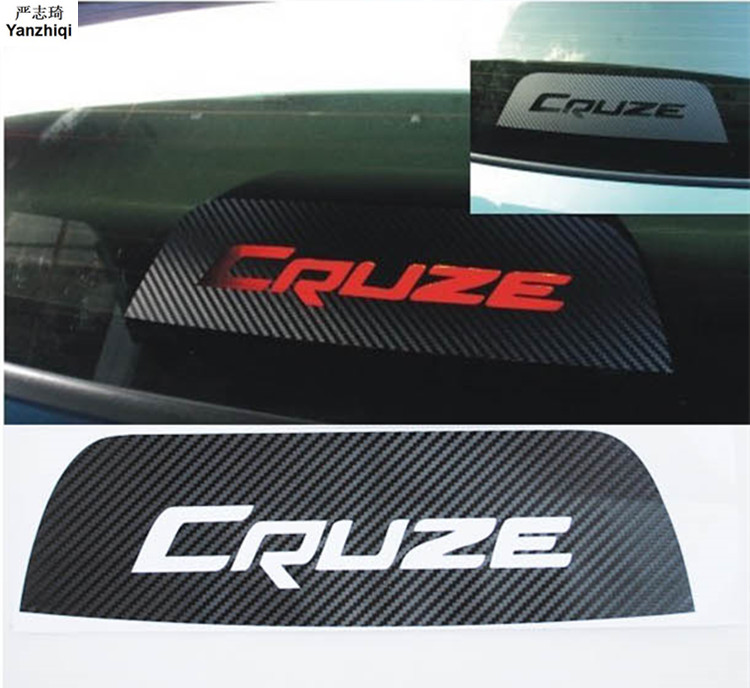 Car Styling Car Sticker Brake Light Decoration Stickers Accessories Special Hollow Carbon Fiber Decals For Chevrolet Cruze 1pc