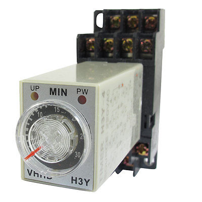 DC24V/DC12V/AC110V/AC220V  0-30 Minute 30m Timer Power On Delay Time Relay 14 Pin H3Y-4 + Socket 5 pieces h3y 2 power on time delay relay solid state timer max 30m 220vac dpdt