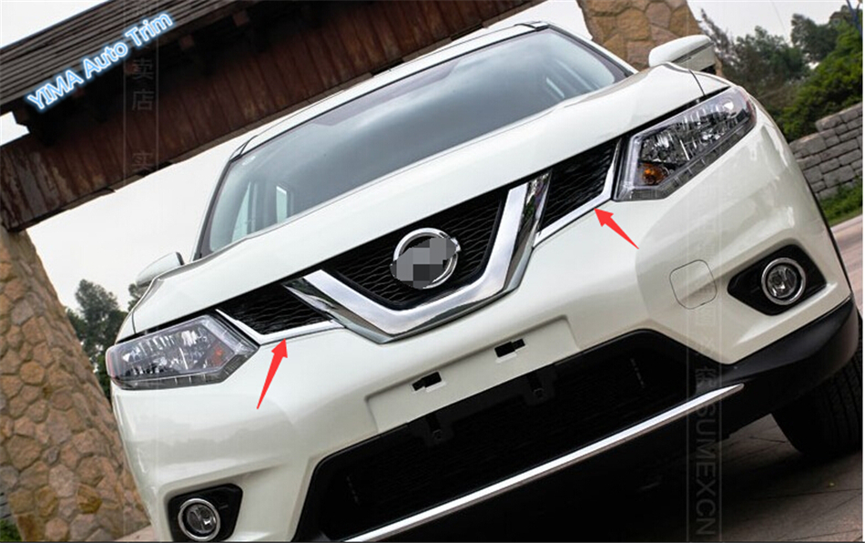 ABS Front Grille Molding Cover Trim For nissan Rogue 2014 2015 / x-trail 2014-2015