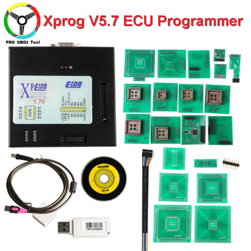 Newly V5.70 Xprog With USB Dongle Full Adapters ECU Programmer Xprog-M 5.70 ECU Chip Tunning Better Than Xprog V5.6 V5.55 V5.0 ktag k tag ecu programmer tool ecu chip 6 languages bdm frame with full adapter support more ecu fits for fgtech bdm100 kess