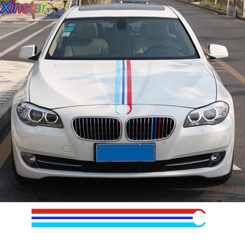 KK M performance car bonnet stripe sticker for BMW E28 E30 E34 E36 E39 E46 E60 E53 E82 E90 E92 X1 X3 X5 X6 E70 E87 F10 F20 F30 image