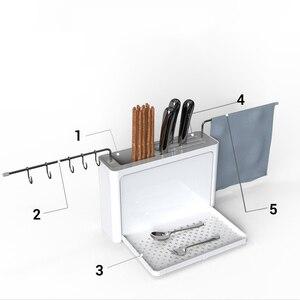 Image 2 - Égouttoir à couverts avec bec verseur Easy Drain organisateur de rangement de cuisine fourchette porte couteau cuillère baguettes porte filtre porte couteau outils