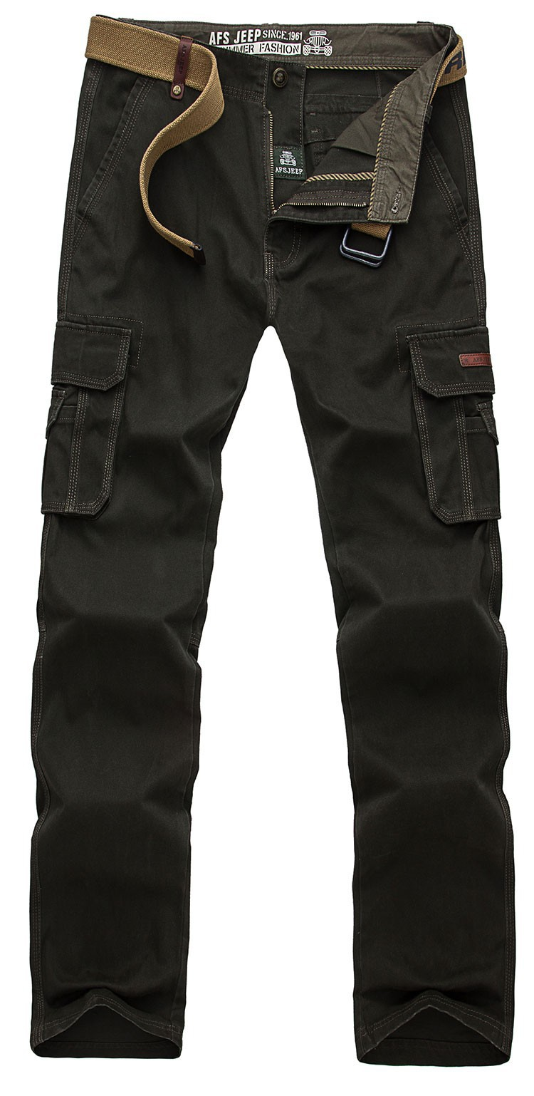 2015 Brand AFS JEEP Men New Pants Autumn Winter Cotton Cargo Casual Pants Pockets Fashion High Quality Mens Slim Pant Size 30~44 (13)