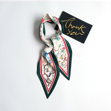 Fashion scarf women silk chiffon Rectangle Cravate Scarves Skinny Head Neck Hair Tie Band Multi-Color Neckerchief Gifts