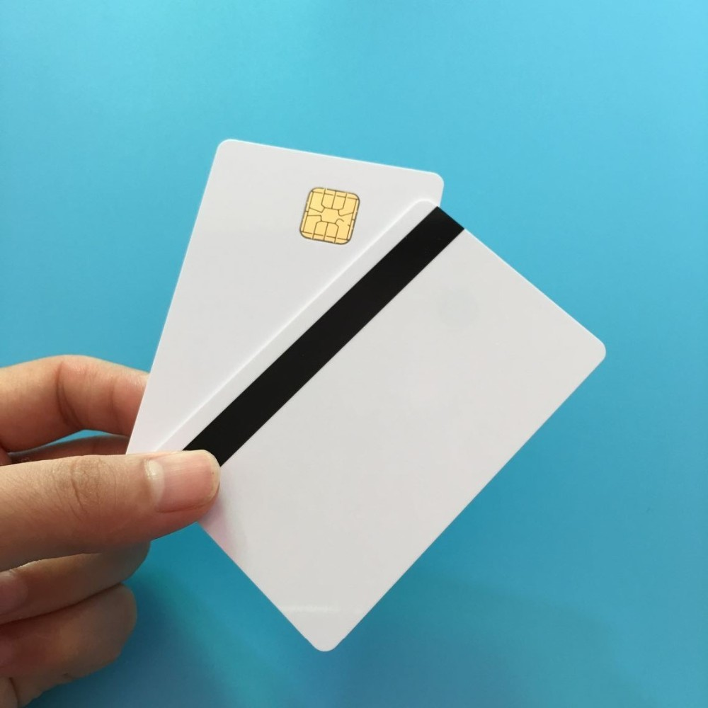 SLE 4428 Contact IC - Big Chip - Printable White PVC Smart IC Card With Hi Co Magstripe 50PCS