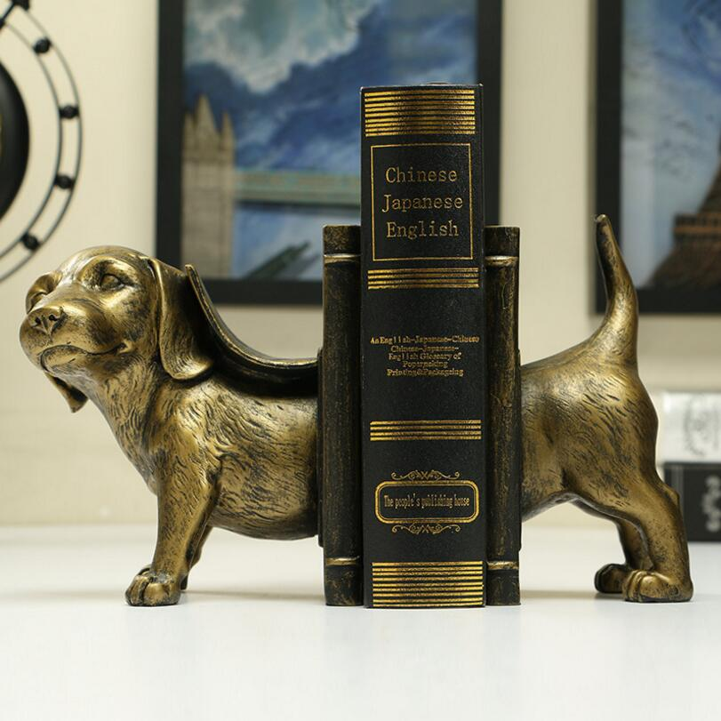 Vintage Style Decorative Dog Design Resin Bookshelf Bookends 10cm(L)*15cm(H)*12cm(W)