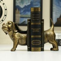 Vintage Style Decorative Dog Design Resin Bookshelf Bookends 10cm(L)*15cm(H)*12cm(W)
