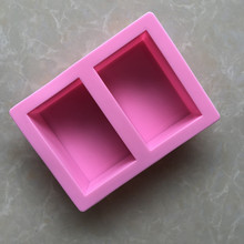 Silicone cake mold Rectangle Baking Tool Handmade Jelly Pudding Ice Block Soap Mould