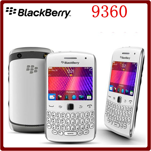9360 Original Unlocked Curve Apollo Blackberry 9360 QWERTY 5.0MP Camera GPS WiFi Bluetooth BlackBerry OS Cellphone Free Shipping