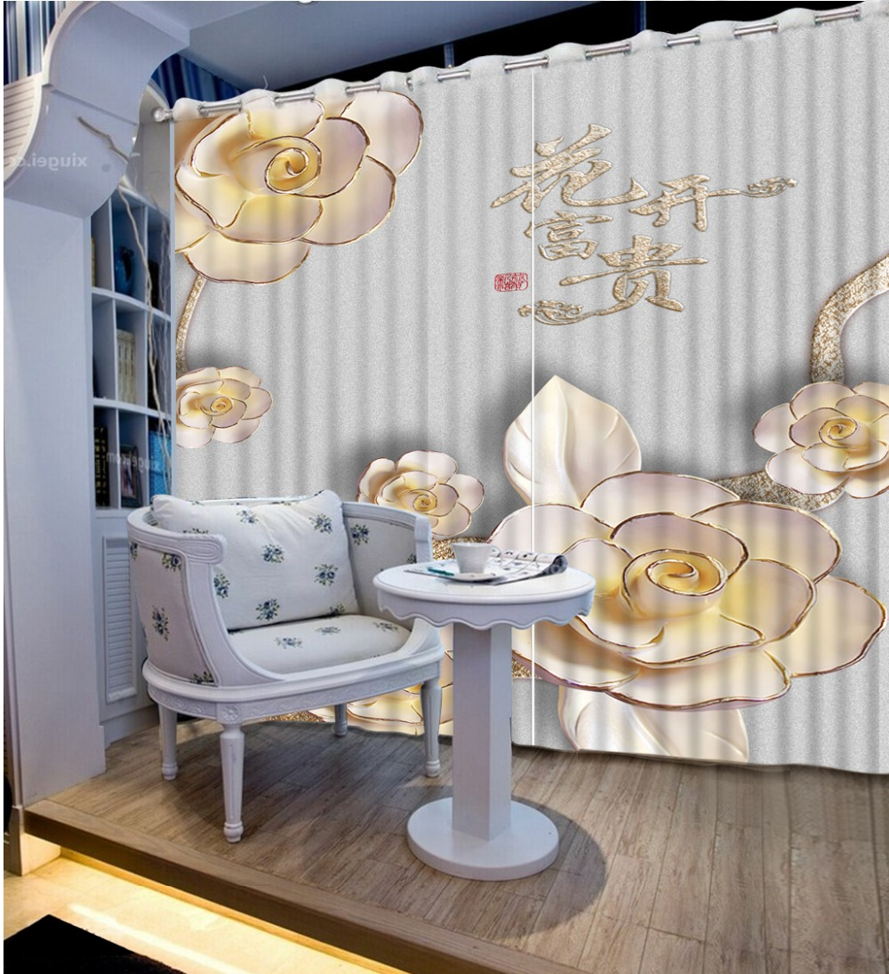 Classic Home Decor Fashion Customized 3D Curtains Embossed, Flower Bed Living Room Hotel Curtains For Bedroom 3D CurtainClassic Home Decor Fashion Customized 3D Curtains Embossed, Flower Bed Living Room Hotel Curtains For Bedroom 3D Curtain
