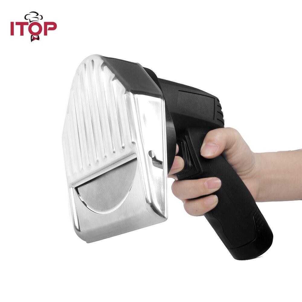 ITOP Электрический Нож Gyros слайсер для кебаба резак для Shawarma аккумуляторная Мясорубка Doner с 2 лезвиями кухонные инструменты 110В 220В