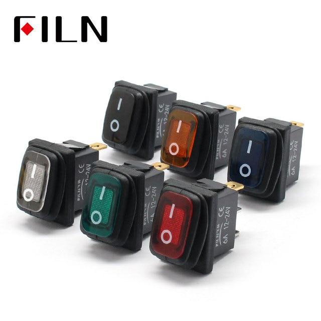 Kcd1-101 3 piny mini na kapslem przełącznik dźwigniowy z wodoszczelną osłoną w 12 v czerwone oświetlenie 6a250vac 13x19mm