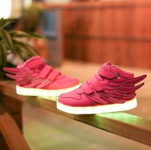 Hot sale LED Colorful Lights Kids font b Sneakers b font Cool High Quality With Light