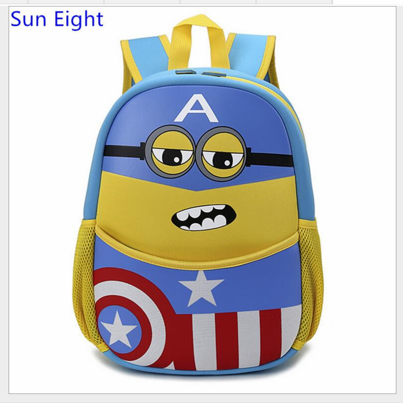 2730e23458b Sun Eight kids minion bag mini minion backpack despicable me minions  kindergarten bag cartoon backpack for boy-in School Bags from Luggage &  Bags on ...