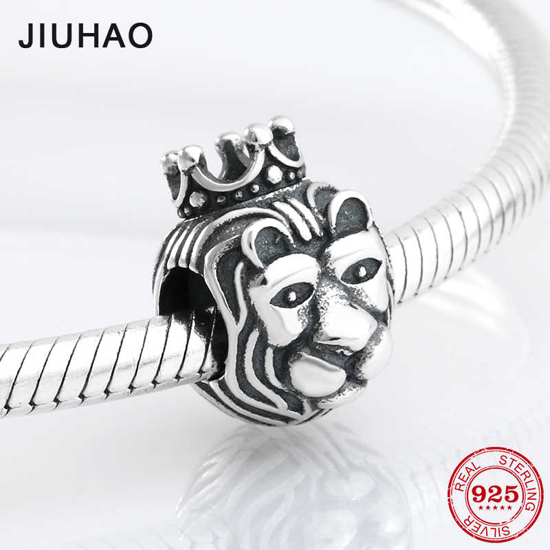 79cb185cb Detail Feedback Questions about Hot 925 Sterling Silver noble Lion King  shape beads Fit Original Pandora Charm Bracelet Jewelry making on  Aliexpress.com ...