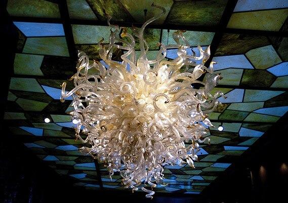 New High Brightness Wonderful Design Hotel Hall Led Blown Glass Ceiling Light