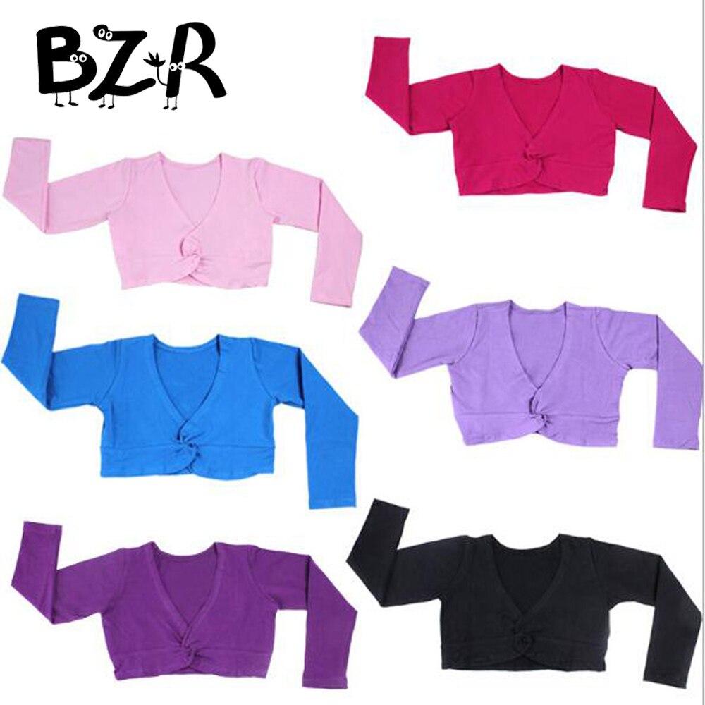 Bazzery Kids Girls Ballet Latin Dance Wear Short Sweater Coat Gymnastics Costume Children Casual Wrap Warm-up Out Wear 100-160cm