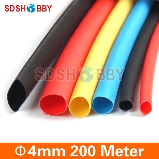64c9ffdf8b2 Alta Qualidade 200 Metro Termoencolhíveis Tubulação Dia.   4mm (Vermelho