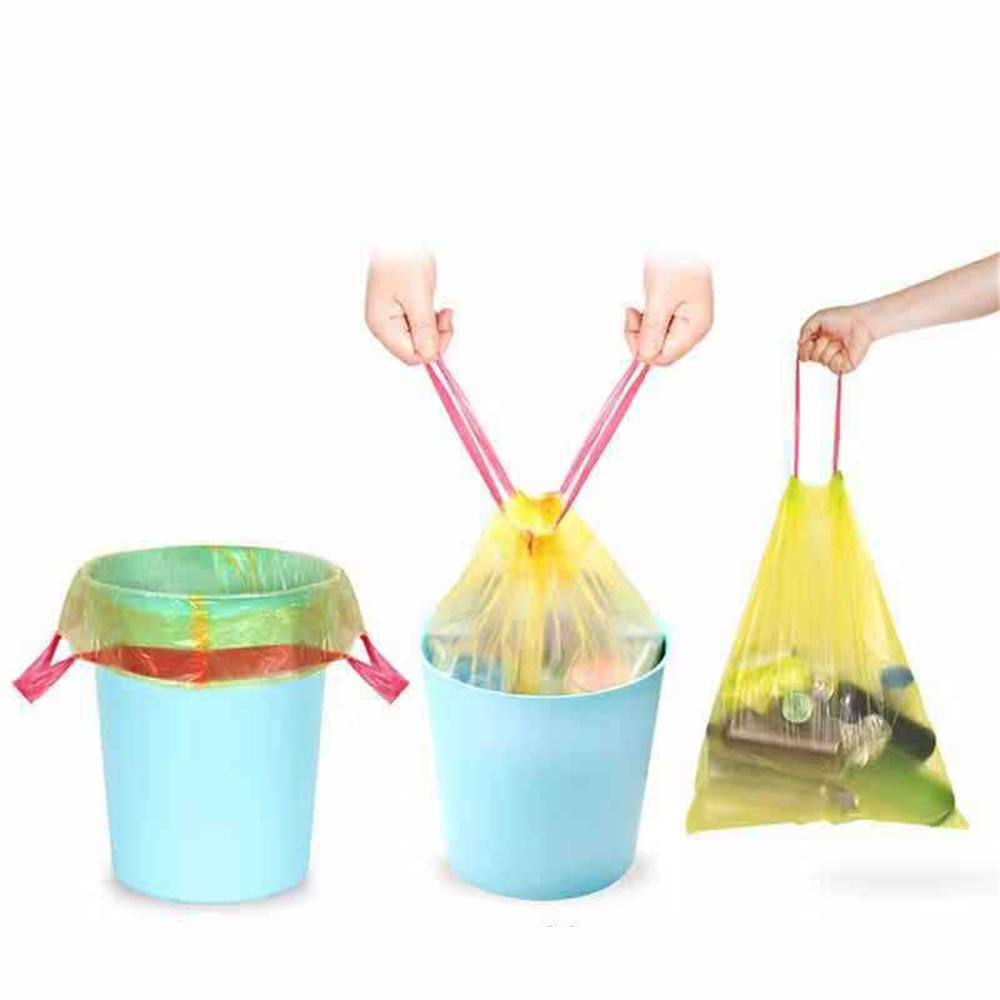 Large Trash Bags Home Portable Vest Type Garbage Bags Kitchen Color Thickening Small Plastic Bags Factory Dispenser