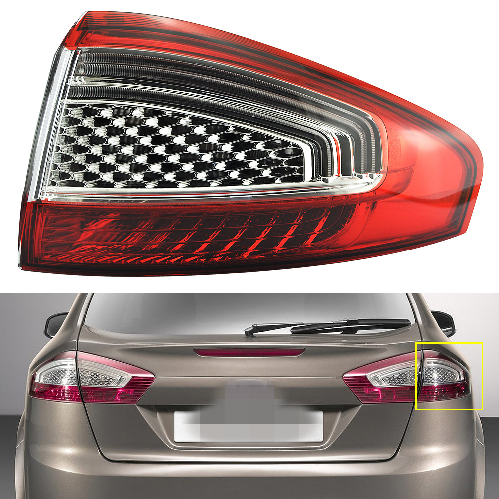 1Pcs Outer Rear Light Taillight Tail Lamp Right Side for Ford Mondeo Fusion 2011-2012