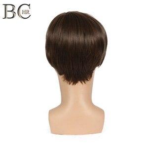 Image 4 - BCHR Breve Rettilineo Uomini Sintetici Parrucca per il Maschio Parrucche di capelli Naturali di Colore Marrone di Trasporto libero PARRUCCHE Toupet