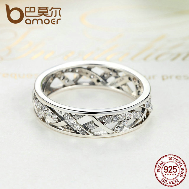Sterling Silver White Crystals Finger Ring