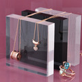 4 Color Acrylic Jewellery Display Block Jewelry Display Stand 8cm&10cm*15cm&20cm Clear Black Frosted Acrylic Jewellery Blcok
