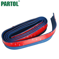 Partol 2 5M Blue Front Bumper Rubber Lip Rear Car JDM Racing Side Skirt Spoiler Protector