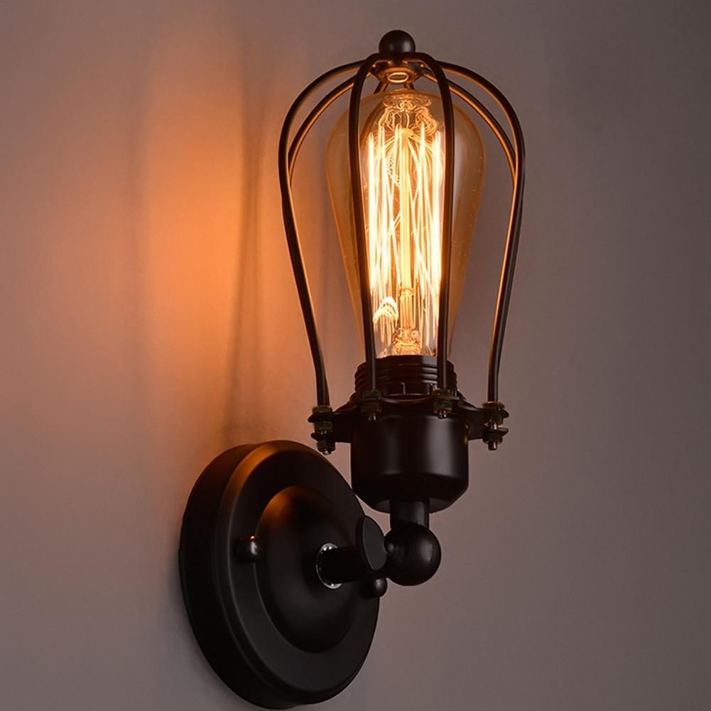 retro metal grapefruit shape wall lamp loft industrial bedroom bathroom wall light e27 wall sconce lamparas