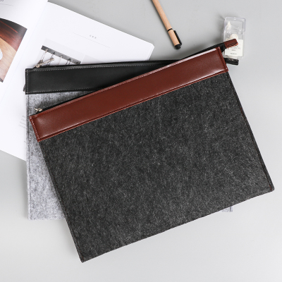 Office Business Document Bag A4 Paper File Organizer Zipper Bag For Documents