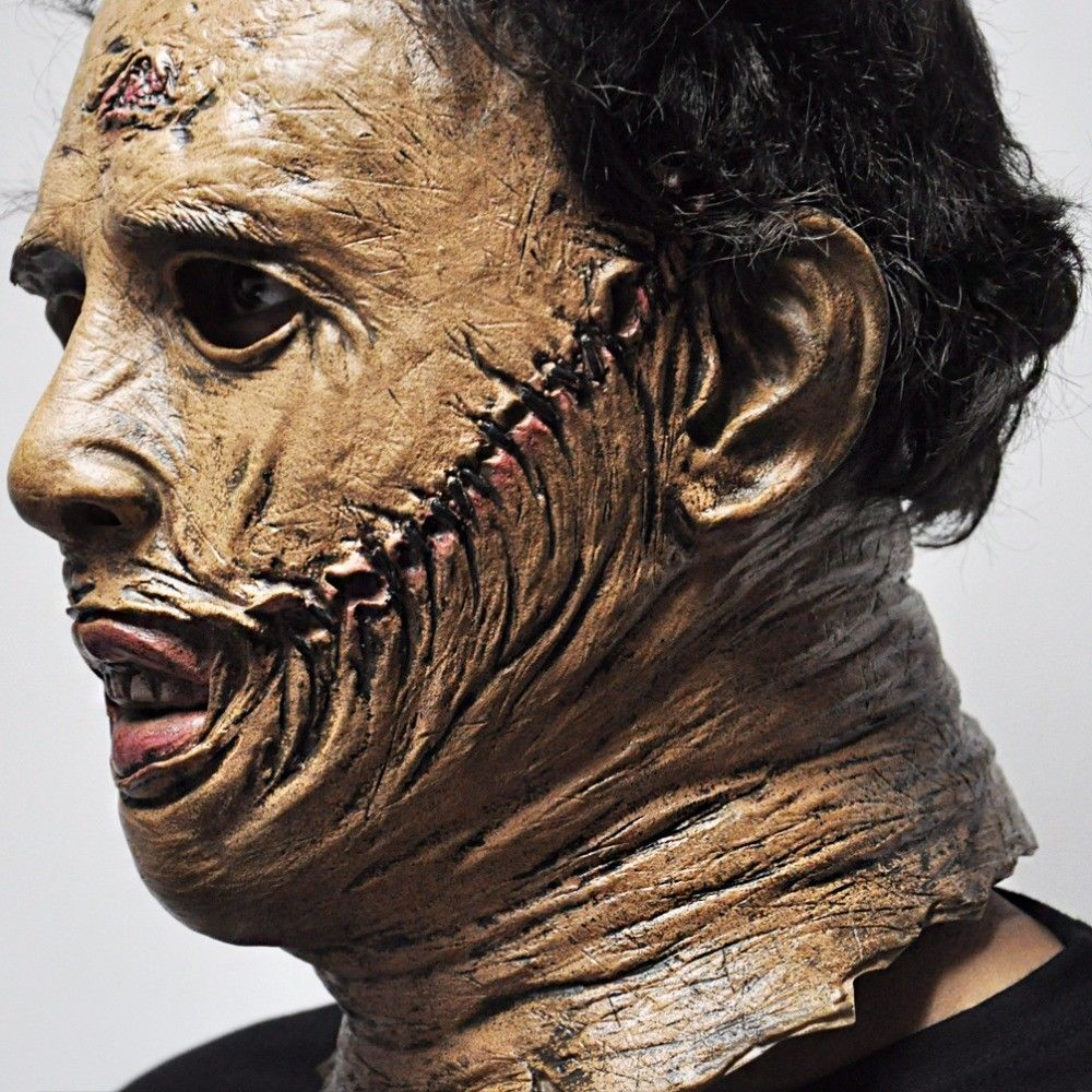 Latex Texas Chainsaw Massacre Movie Masks Cosplay prop Crazy terror Funny Magic Fantastic Party Mask