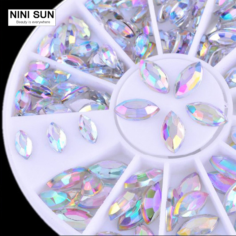 2017 New 3D Boat Stone Nail Art Decorations Rhinestone For Nail Art Stone for Finger Nail DIY Acrylic Tool For Ongle in Wheel art stone art stone sar011