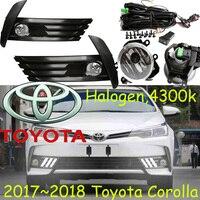 2017 2018year Corolla Day Light Free Ship LED Corolla Fog Light Camry Reiz Cruiser Hiace Innova