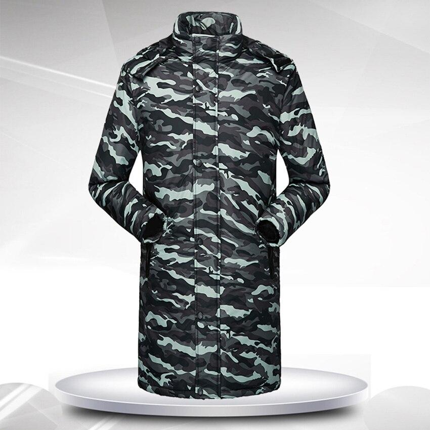 Men Winter Coat Padded Coat Camouflage Warm Thick Coats Long Jacket Hooded Coat Plus Size Windbreaker Male Long Outerwear 4XL