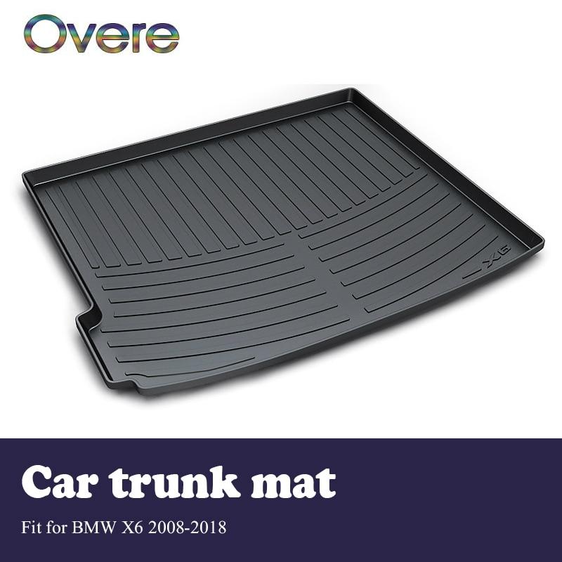 Overe 1 set Voiture Cargo arrière tapis de coffre Pour BMW X6 E71 F16 2008-2014 2015 2016 2017 2018 style Boot Plateau Anti Slip Mat Accessoires