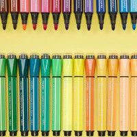 Товары для рукоделия милые канцелярские 12/18/24/36 краски акварелью Набор Kawaii моющиеся водный Маркер Pen для живописи Mikasa Ackerman рисунок