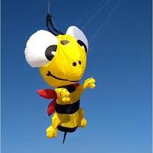 Высокое качество пчелиный мягкий воздушный змей подвеска Рипстоп нейлоновая ткань наружные летающие игрушки воздушный змей в виде животного ветровка парашют 3d воздушный змей