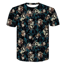 2018 New Mens Summer Skull Poker Print Men Short Sleeve T-shirt 3D T Shirt Casual Breathable T-shirt Plus-size T-shirt