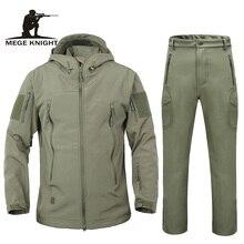 男性秋冬ジャケットコートソフトシェルサメ皮服、防水軍服迷彩ジャケット