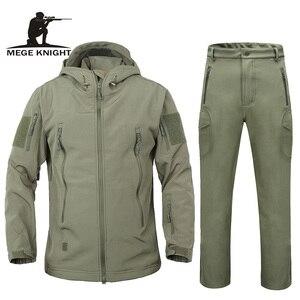 Image 1 - Men autumn winter jacket coat soft shell shark skin clothes, waterproof military clothing camouflage jacket