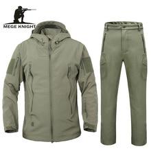 Áo thu đông áo khoác áo khoác vỏ mềm da cá mập quần áo, chống nước quân đội quần áo cam phối áo khoác