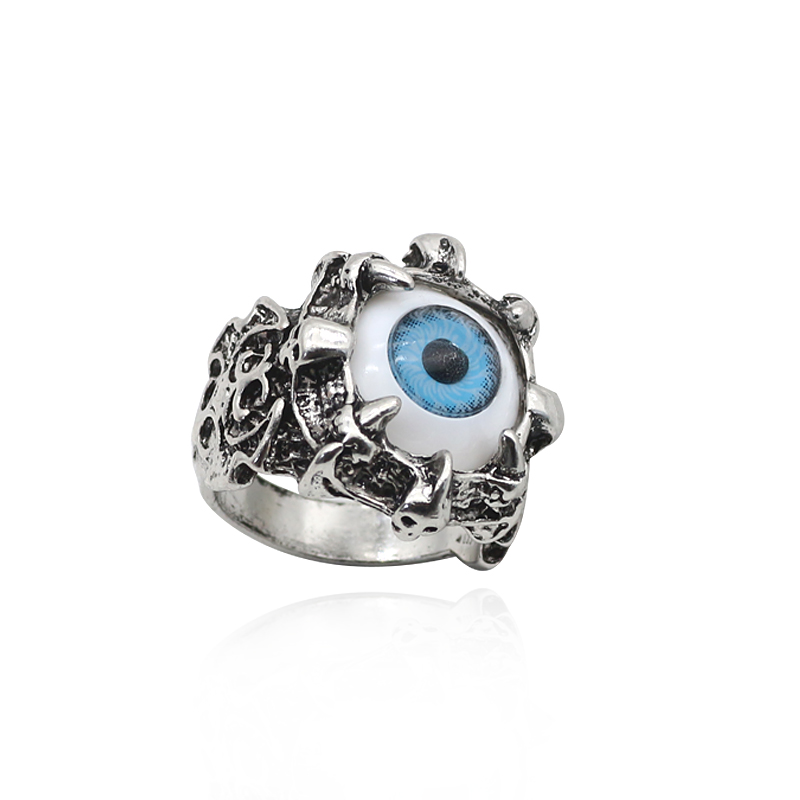Punk Face Ring Men Jewelry Gothic Monster Devil Satan Ghost Evil Eyes Rings Variation Eagle Eye Cool Skull Finger Rings Jewellry ...