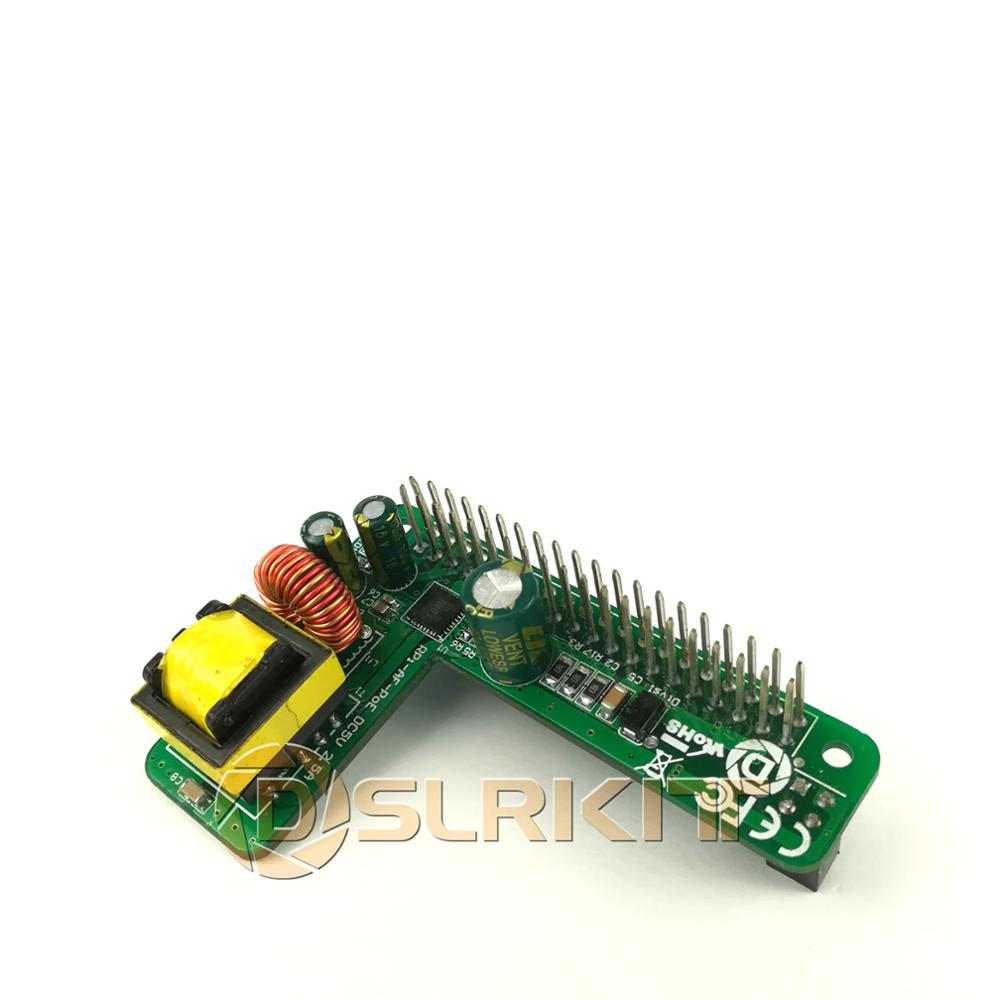 DSLRKIT Raspberry Pi 4 4B 3B  3B Plus Power Over Ethernet PoE HAT IEEE802 3af DC 5V 2 5A