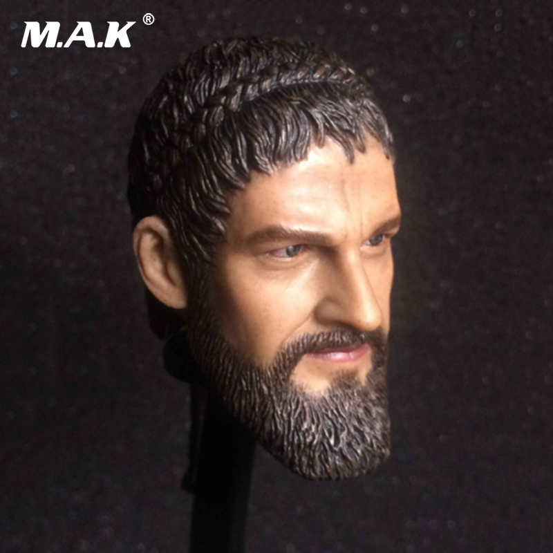 1/6 Scale Male King Leonidas Calm Face Head For 12