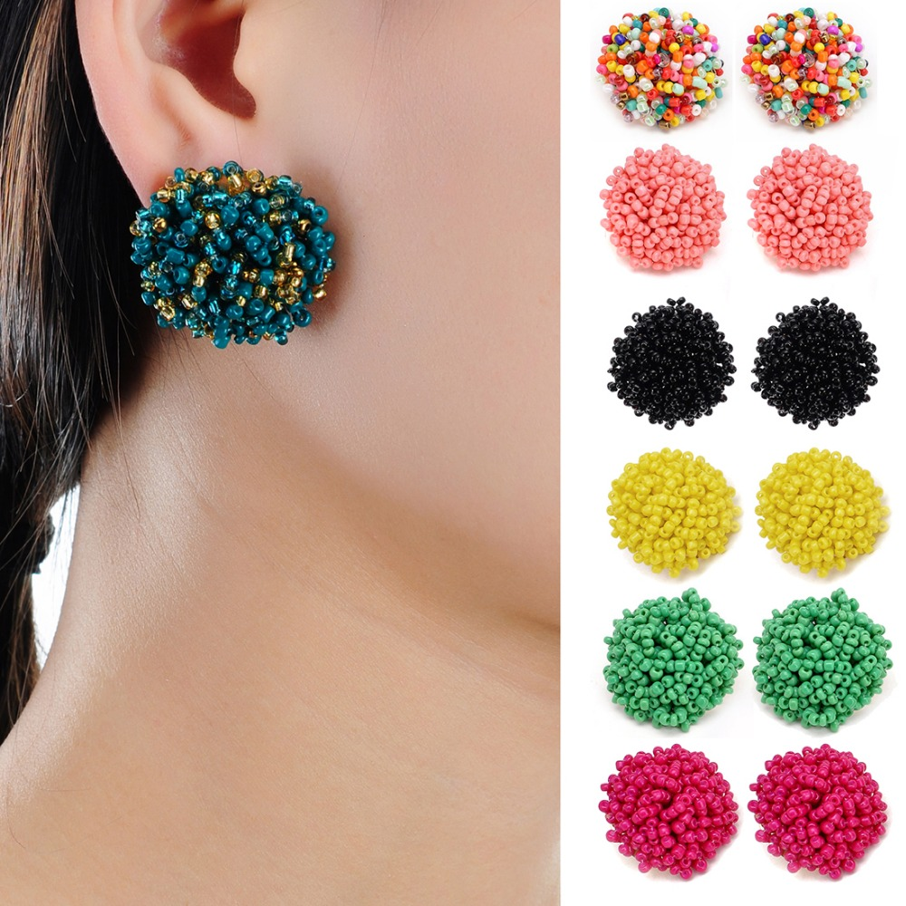 21 Colors Perfect Match Spring Unique Design Jewelry Gorgeous Resin Handmade Beads Earring Ball Boho Fashion Jewelry Women