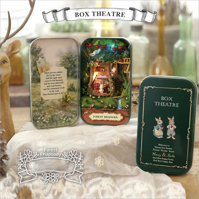 In A Happy Corner 3D Wooden DIY Handmade Box Theatre Miniature Cute Mini Doll Furniture Assemble Kits Gift Toys