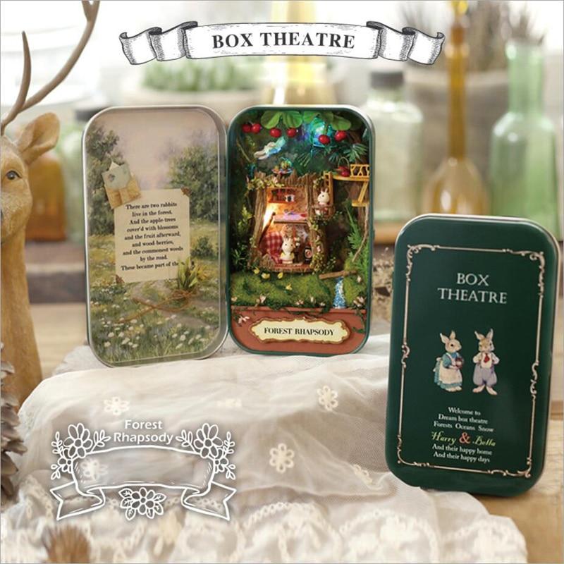 In A Happy Corner 3D Wooden DIY Handmade Box Theatre Miniature Cute Mini Doll Furniture Assemble Kits Gift Toys