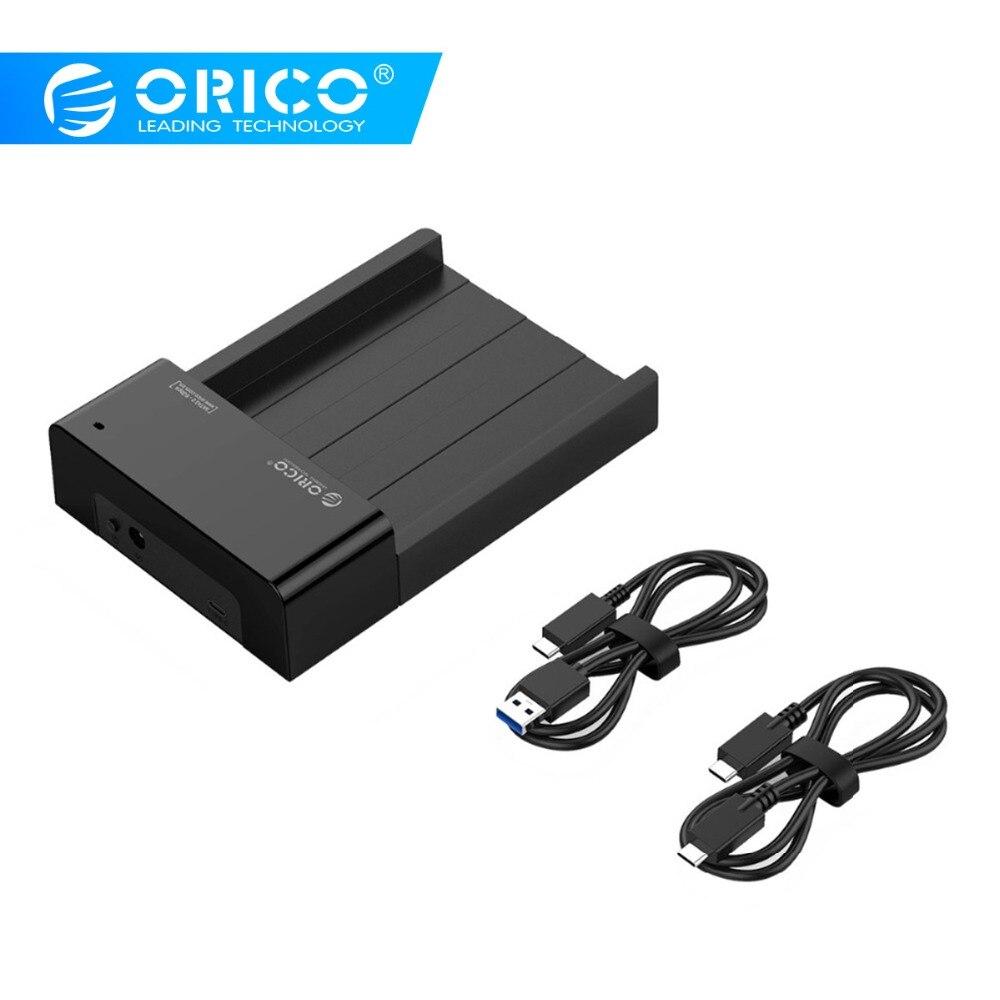 ORICO HDD Cas 2.5 3.5 Pouces Boîtier de DISQUE DUR SATA À USB3.1 Gen2 Type C Adaptateur SSD 10gbps Boîte de DISQUE DUR Disque Dur Externe Boîtier HD